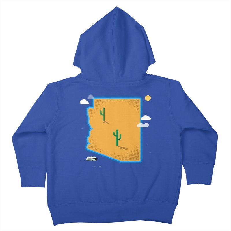 Arizona Island Kids Toddler Zip-Up Hoody by Phillustrations's Artist Shop