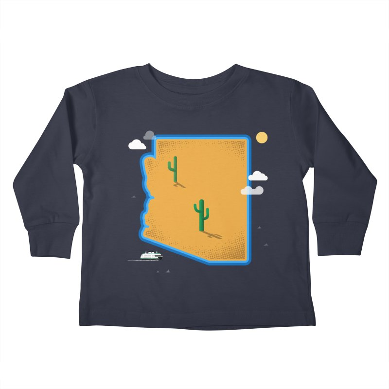Arizona Island Kids Toddler Longsleeve T-Shirt by Phillustrations's Artist Shop
