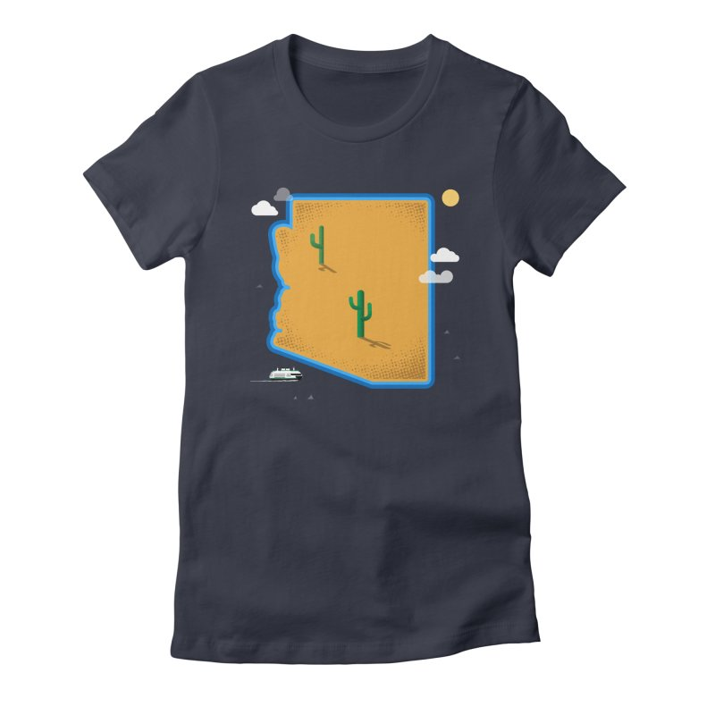 Arizona Island Women's Fitted T-Shirt by Phillustrations's Artist Shop