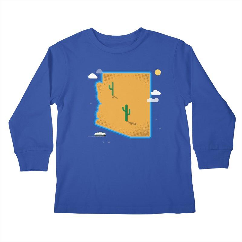 Arizona Island Kids Longsleeve T-Shirt by Phillustrations's Artist Shop