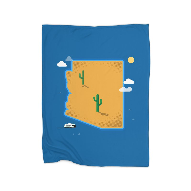 Arizona Island Home Blanket by Phillustrations's Artist Shop