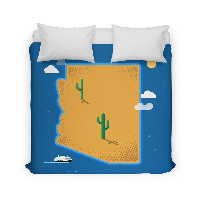 Arizona Island Home Duvet by Phillustrations's Artist Shop