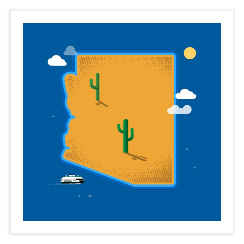 Arizona Island Home Fine Art Print by Phillustrations's Artist Shop