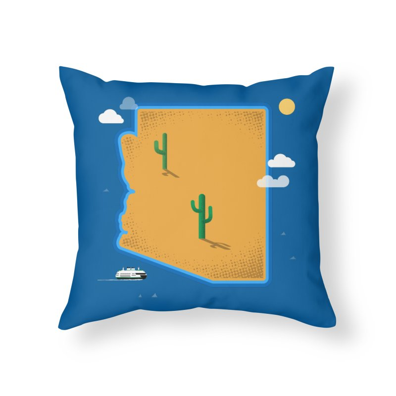 Arizona Island Home Throw Pillow by Phillustrations's Artist Shop