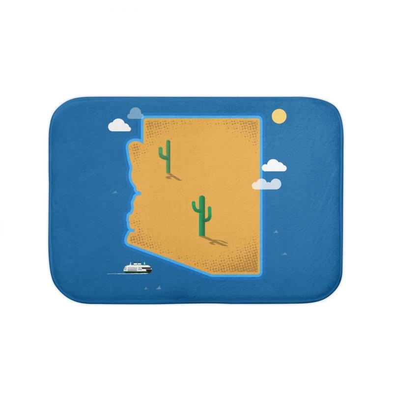 Arizona Island Home Bath Mat by Phillustrations's Artist Shop