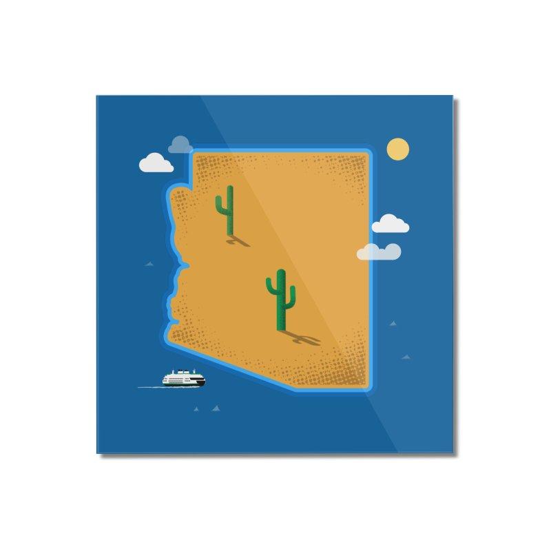 Arizona Island Home Mounted Acrylic Print by Phillustrations's Artist Shop