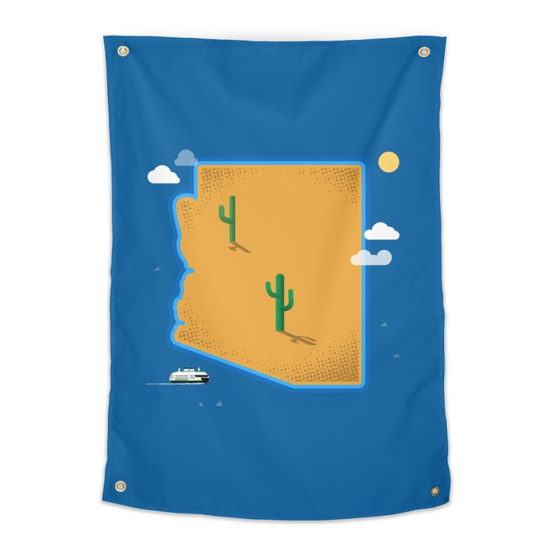 Arizona Island Home Tapestry by Phillustrations's Artist Shop