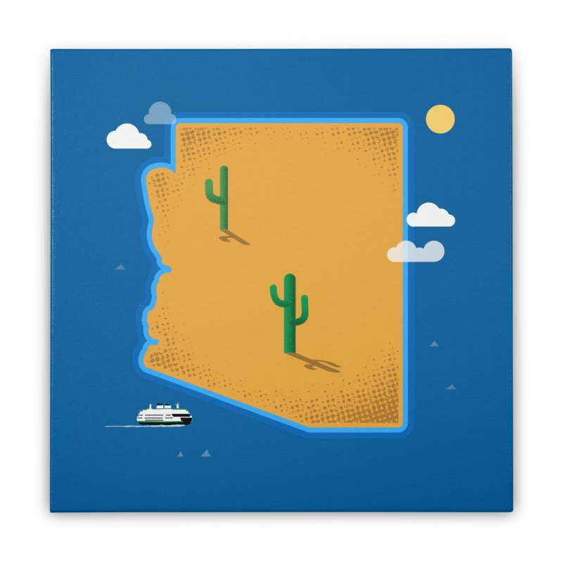Arizona Island Home Stretched Canvas by Phillustrations's Artist Shop