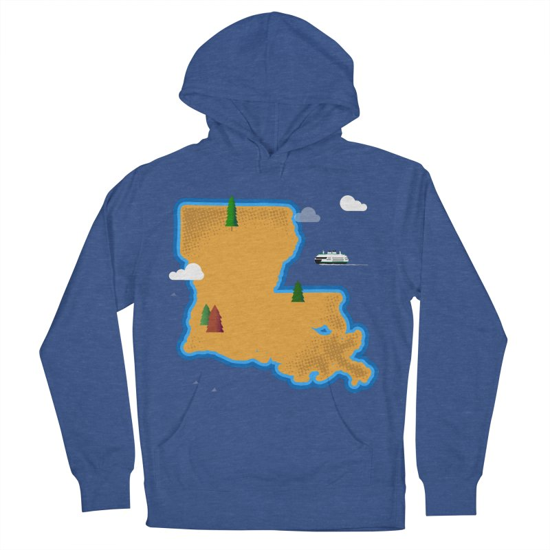 Louisiana Island Women's Pullover Hoody by Phillustrations's Artist Shop