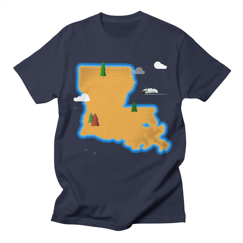Louisiana Island Men's T-Shirt by Phillustrations's Artist Shop