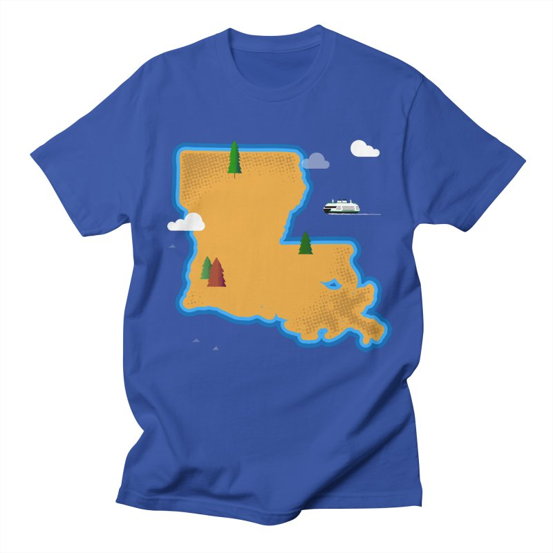 Louisiana Island Men's T-Shirt by Illustrations by Phil