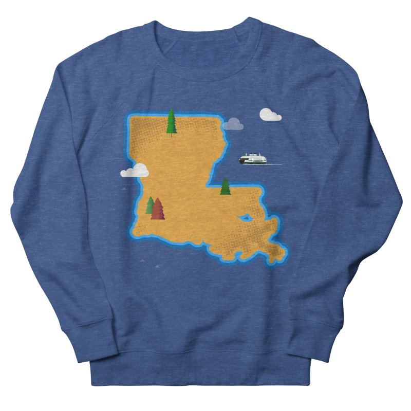Louisiana Island Women's Sweatshirt by Phillustrations's Artist Shop
