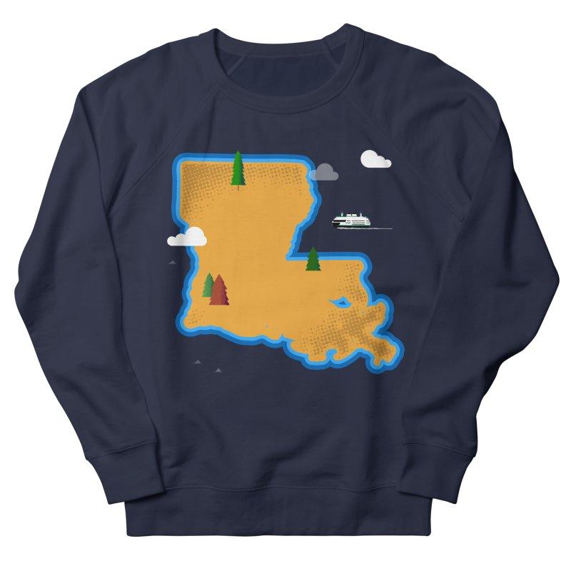 Louisiana Island Men's Sweatshirt by Phillustrations's Artist Shop