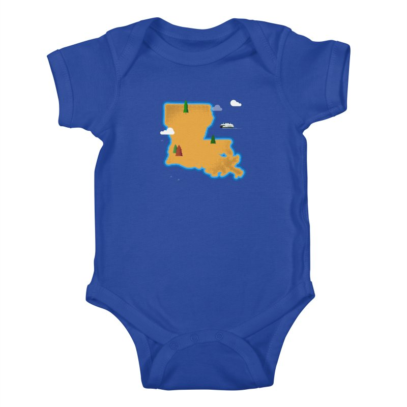 Louisiana Island Kids Baby Bodysuit by Phillustrations's Artist Shop