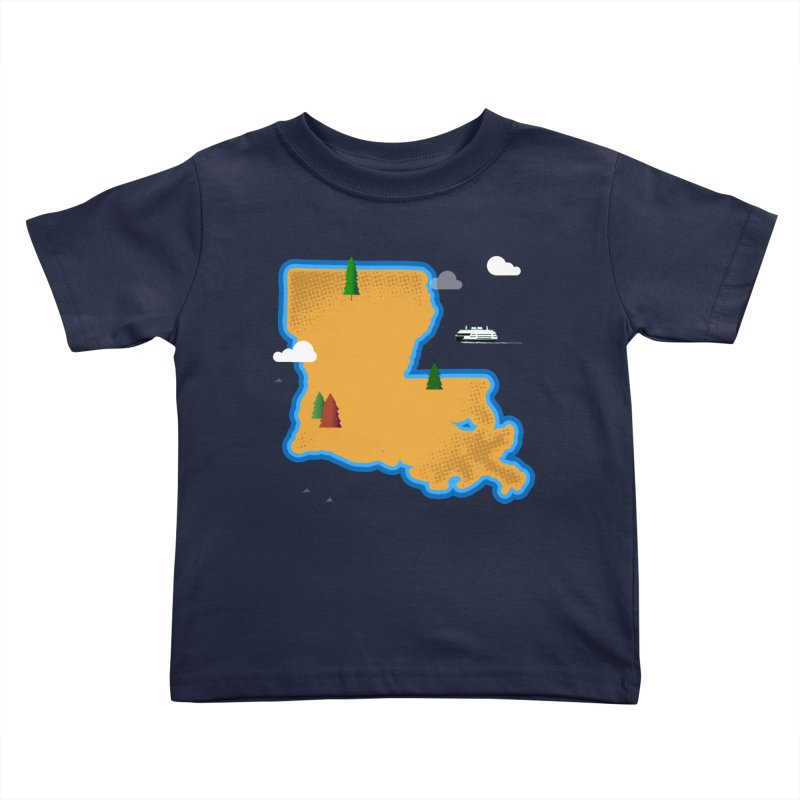 Louisiana Island Kids Toddler T-Shirt by Phillustrations's Artist Shop