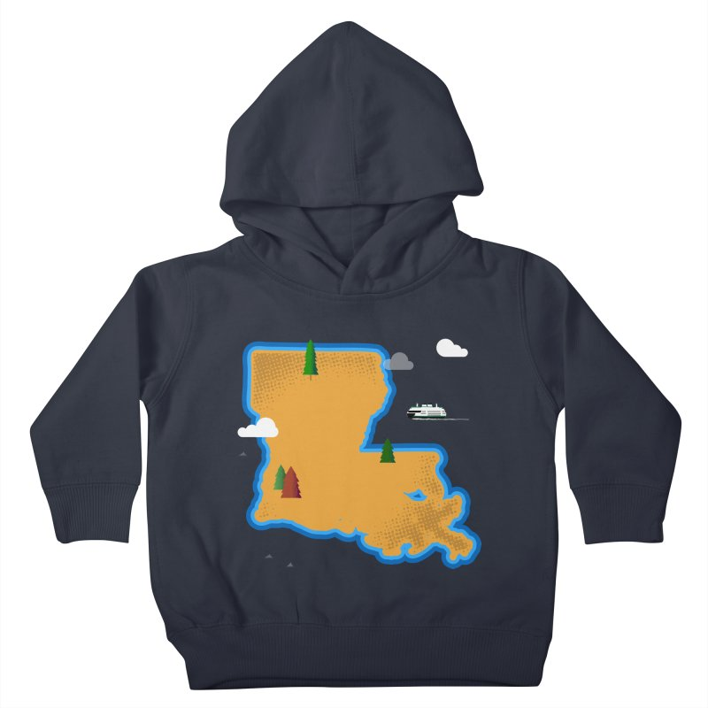 Louisiana Island Kids Toddler Pullover Hoody by Phillustrations's Artist Shop