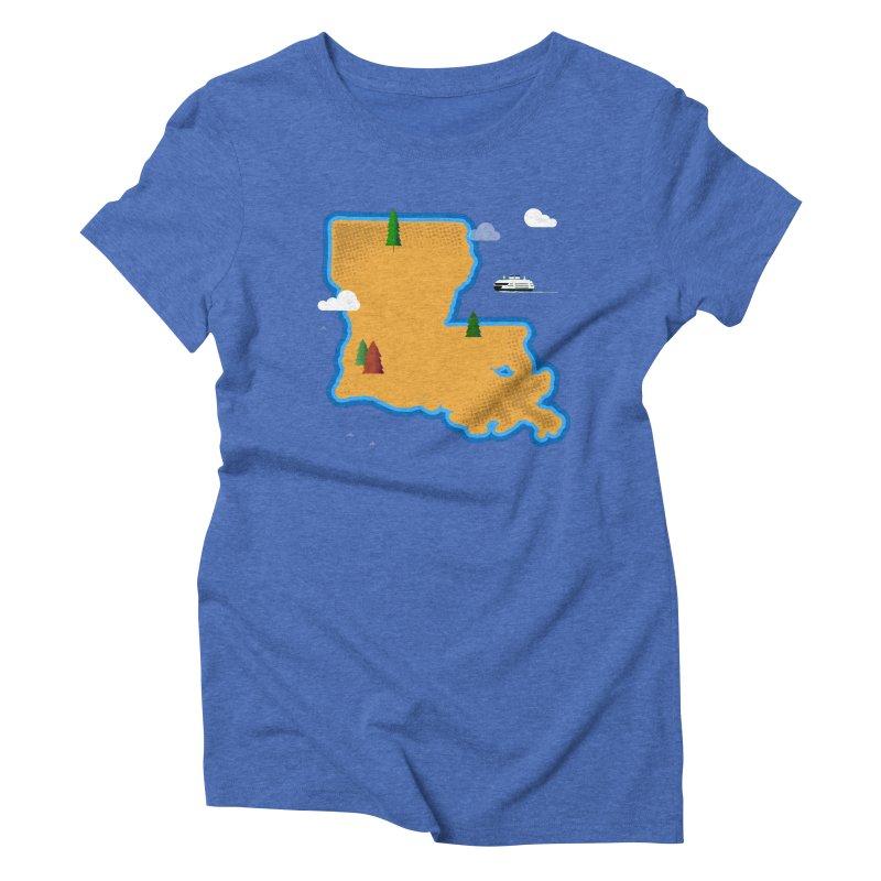 Louisiana Island Women's Triblend T-Shirt by Phillustrations's Artist Shop