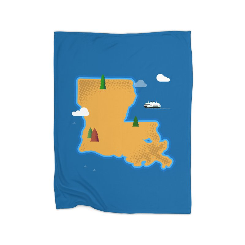 Louisiana Island Home Blanket by Phillustrations's Artist Shop