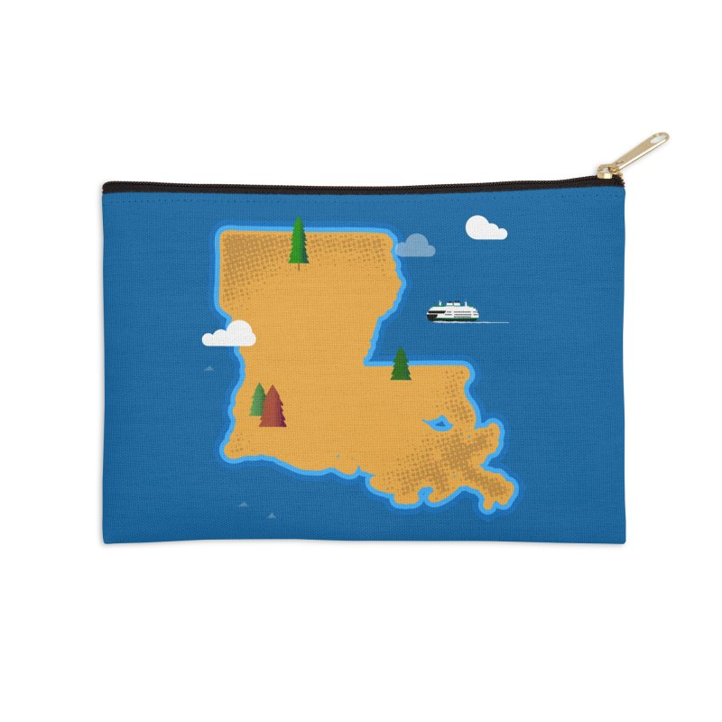 Louisiana Island Accessories Zip Pouch by Phillustrations's Artist Shop