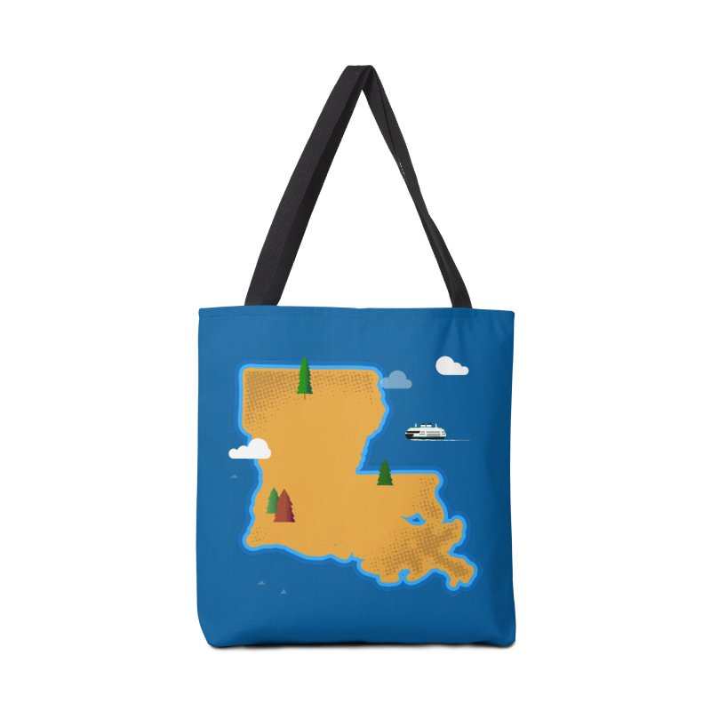 Louisiana Island Accessories Bag by Phillustrations's Artist Shop