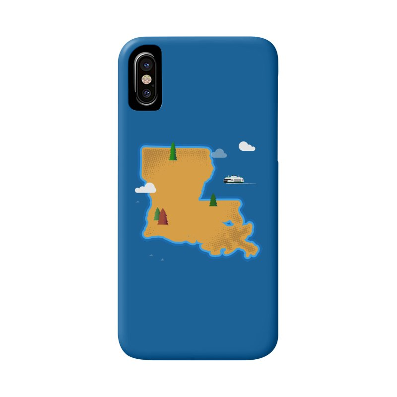 Louisiana Island Accessories Phone Case by Phillustrations's Artist Shop