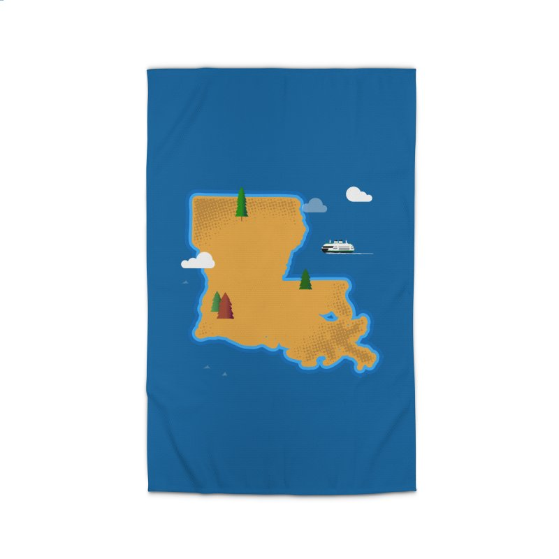 Louisiana Island Home Rug by Phillustrations's Artist Shop
