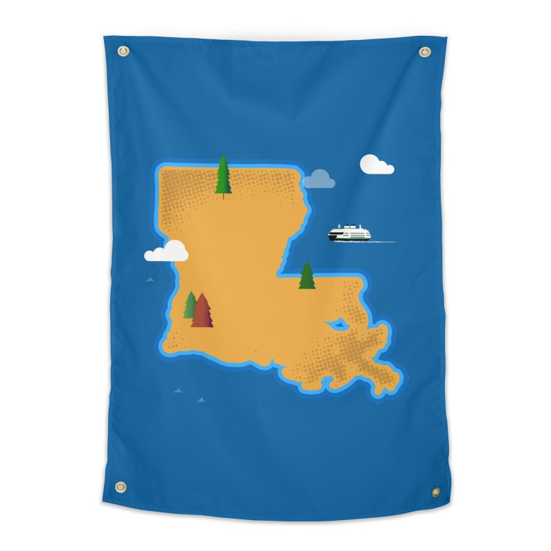Louisiana Island Home Tapestry by Phillustrations's Artist Shop