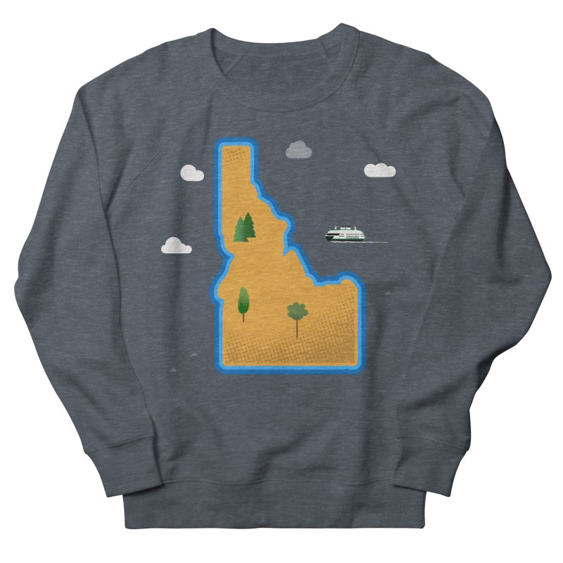 Idaho Island Men's Sweatshirt by Phillustrations's Artist Shop