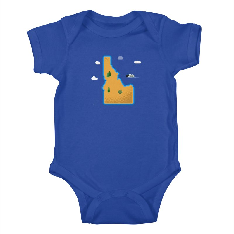 Idaho Island Kids Baby Bodysuit by Phillustrations's Artist Shop