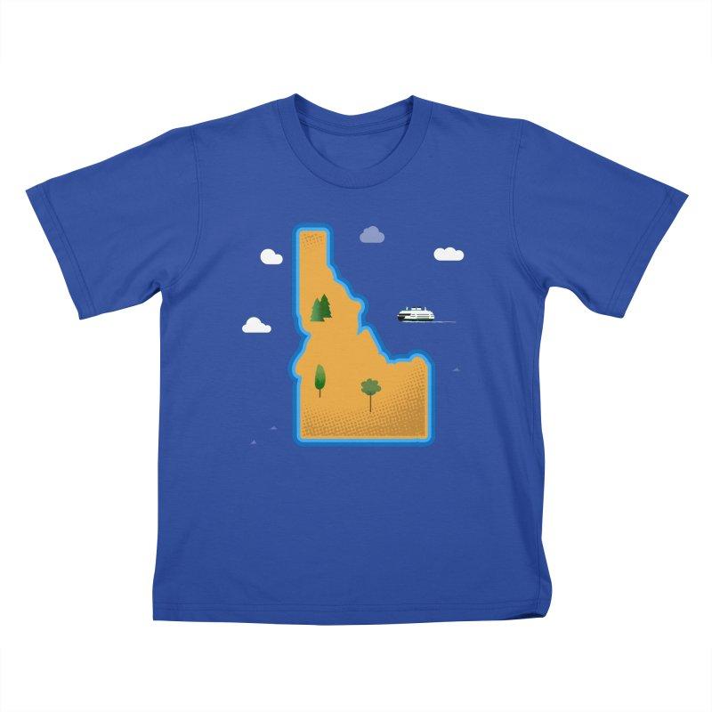 Idaho Island Kids T-Shirt by Phillustrations's Artist Shop