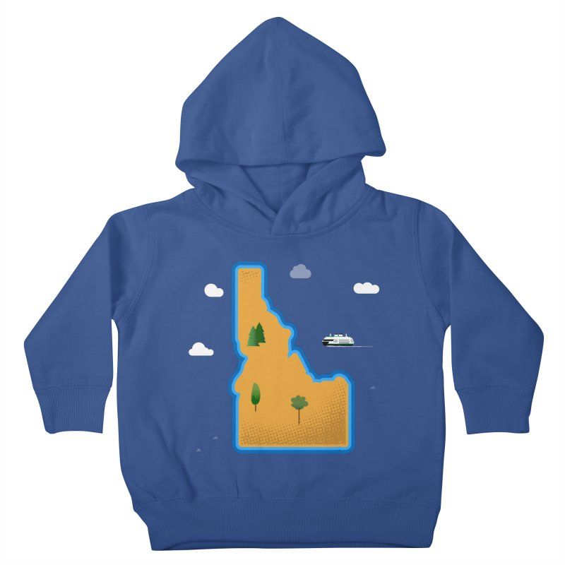 Idaho Island Kids Toddler Pullover Hoody by Phillustrations's Artist Shop