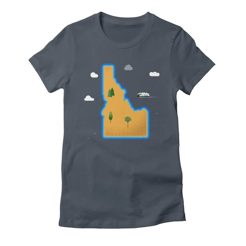 Idaho Island Women's Fitted T-Shirt by Phillustrations's Artist Shop