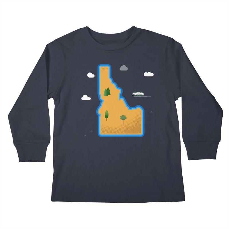Idaho Island Kids Longsleeve T-Shirt by Phillustrations's Artist Shop