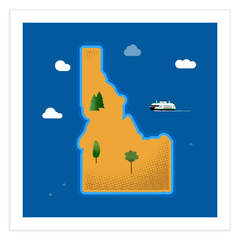 Idaho Island Home Fine Art Print by Phillustrations's Artist Shop