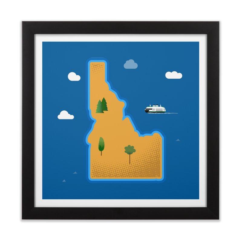 Idaho Island Home Framed Fine Art Print by Phillustrations's Artist Shop