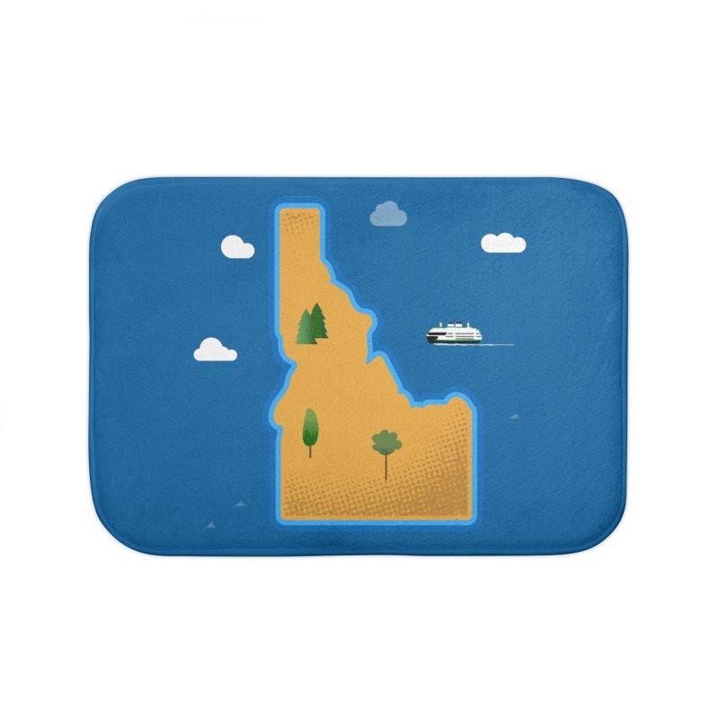 Idaho Island Home Bath Mat by Phillustrations's Artist Shop