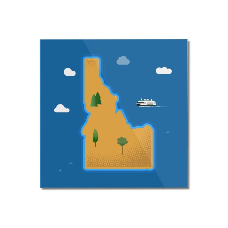 Idaho Island Home Mounted Acrylic Print by Phillustrations's Artist Shop