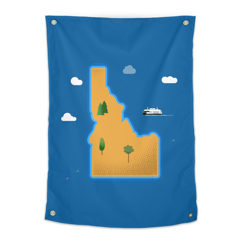 Idaho Island Home Tapestry by Phillustrations's Artist Shop