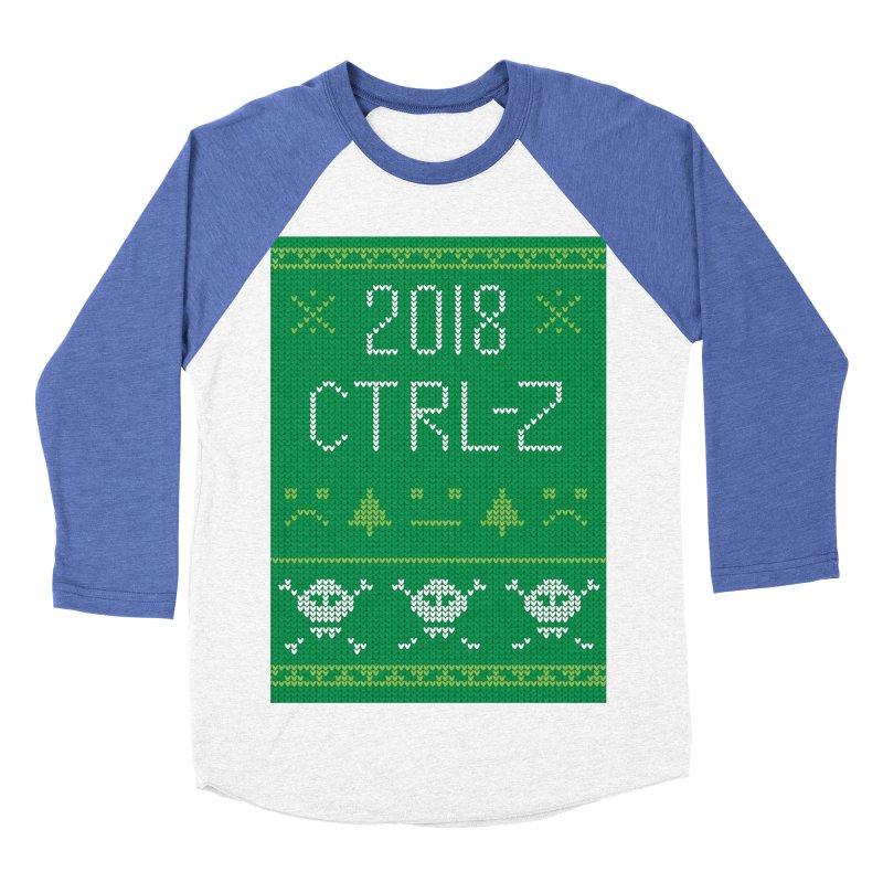 Undo 2018 Men's Baseball Triblend Longsleeve T-Shirt by Illustrations by Phil