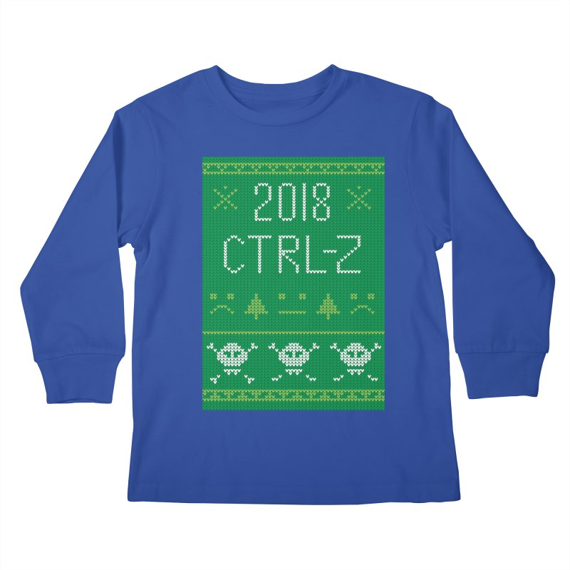 Undo 2018 Kids Longsleeve T-Shirt by Phillustrations's Artist Shop