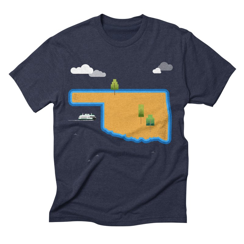 Oklahoma Island Men's Triblend T-Shirt by Phillustrations's Artist Shop
