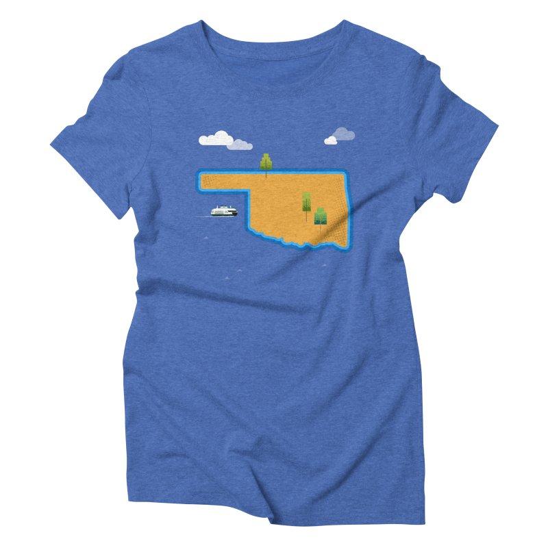 Oklahoma Island Women's Triblend T-Shirt by Phillustrations's Artist Shop