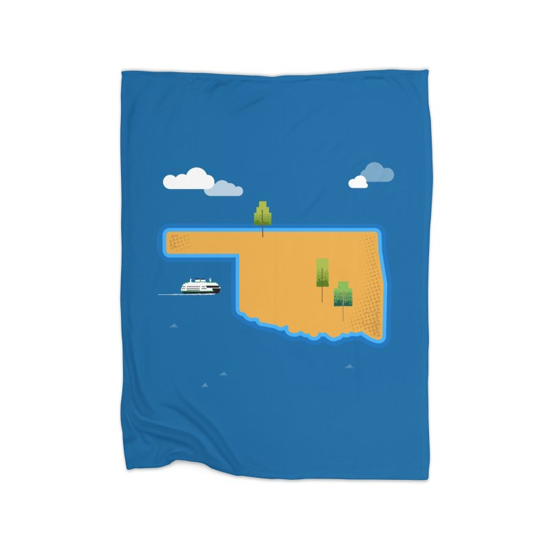 Oklahoma Island Home Blanket by Phillustrations's Artist Shop