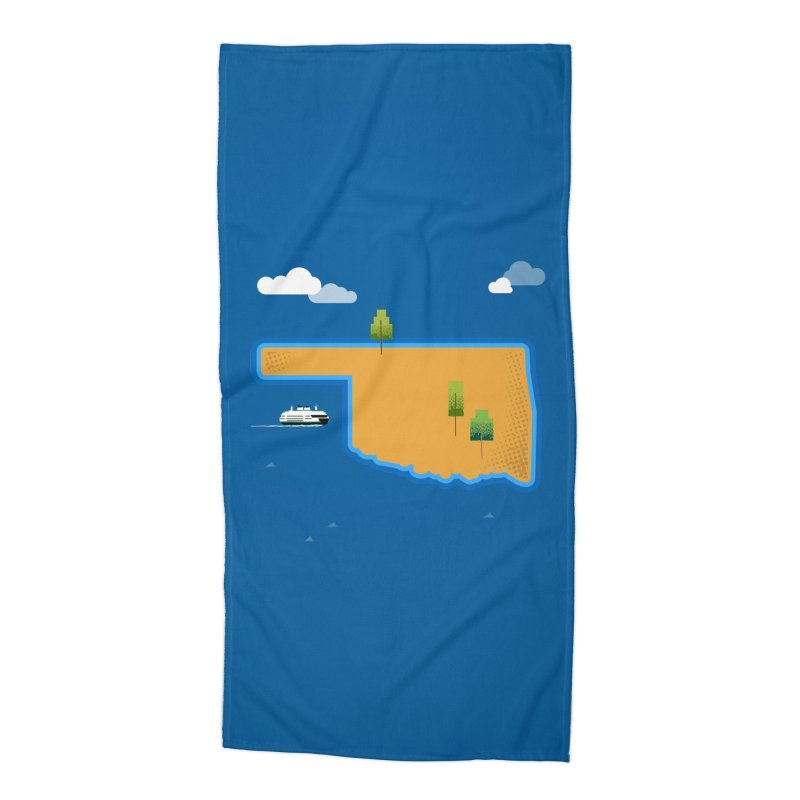 Oklahoma Island Accessories Beach Towel by Phillustrations's Artist Shop