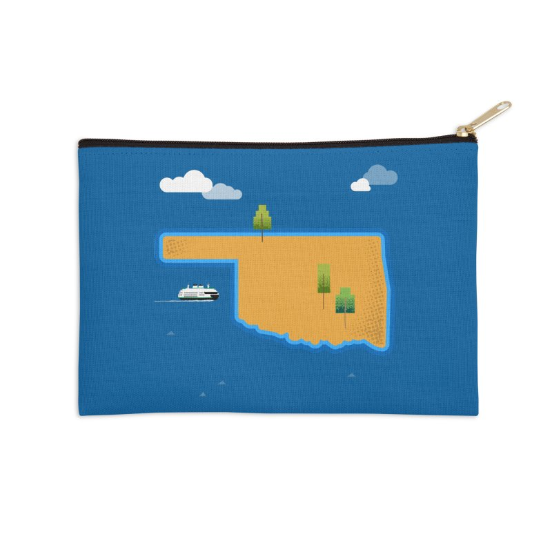 Oklahoma Island Accessories Zip Pouch by Phillustrations's Artist Shop