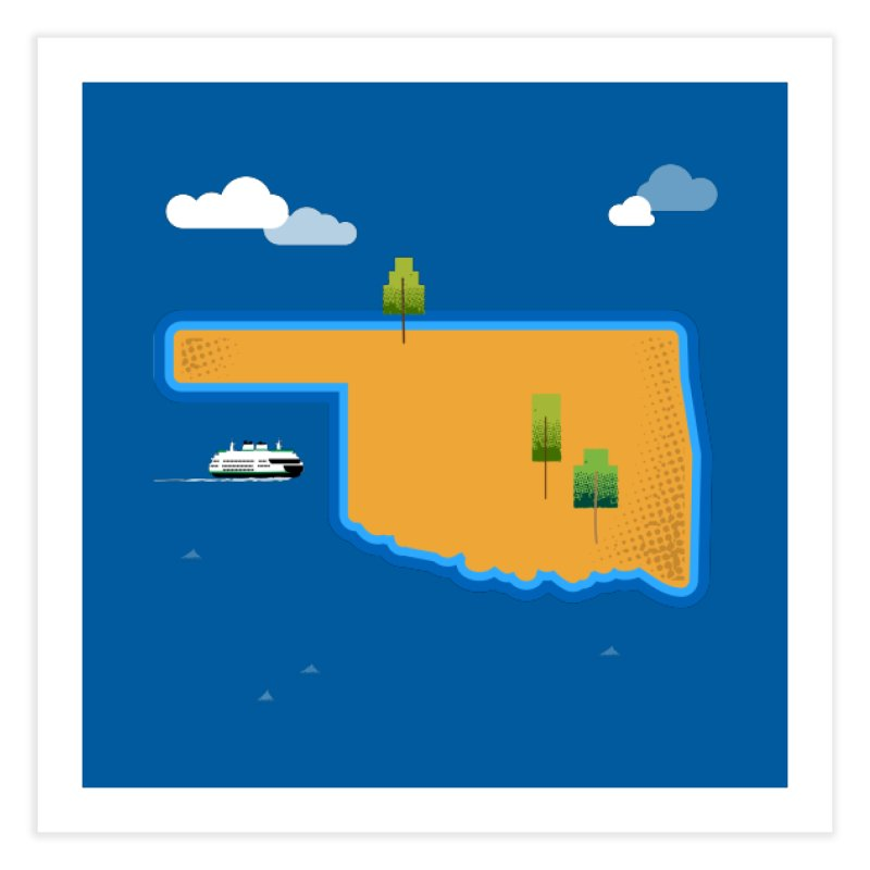 Oklahoma Island Home Fine Art Print by Phillustrations's Artist Shop