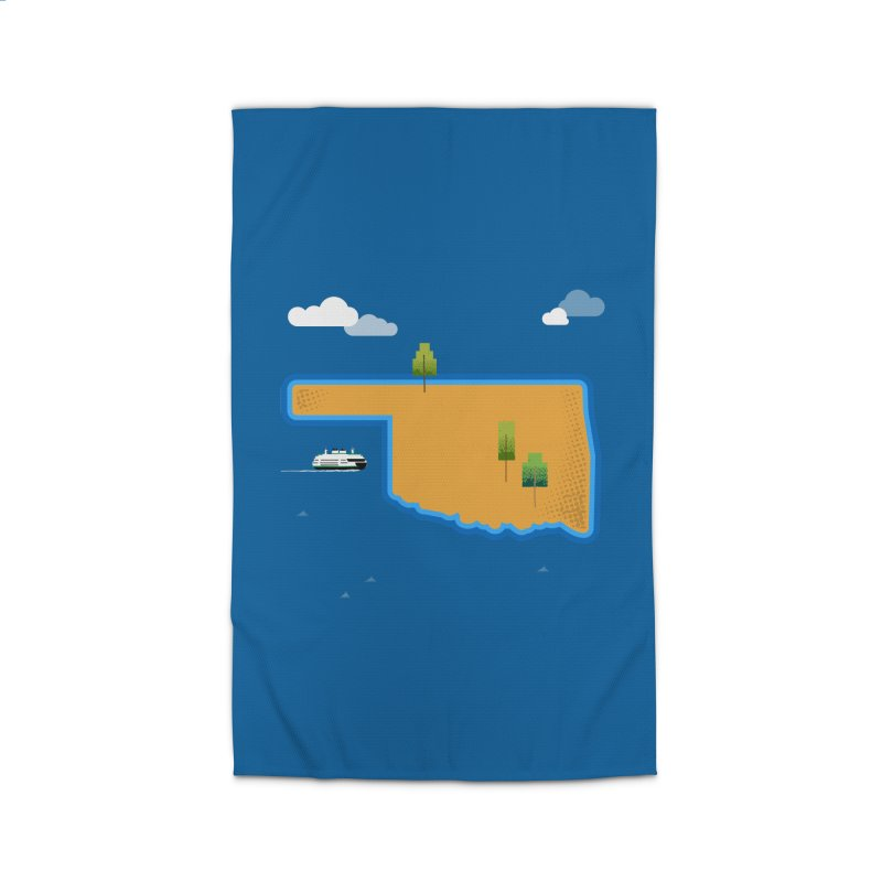 Oklahoma Island Home Rug by Phillustrations's Artist Shop