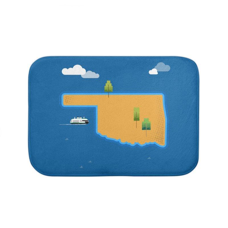 Oklahoma Island Home Bath Mat by Phillustrations's Artist Shop