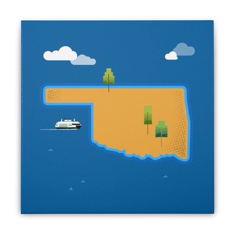 Oklahoma Island Home Stretched Canvas by Phillustrations's Artist Shop
