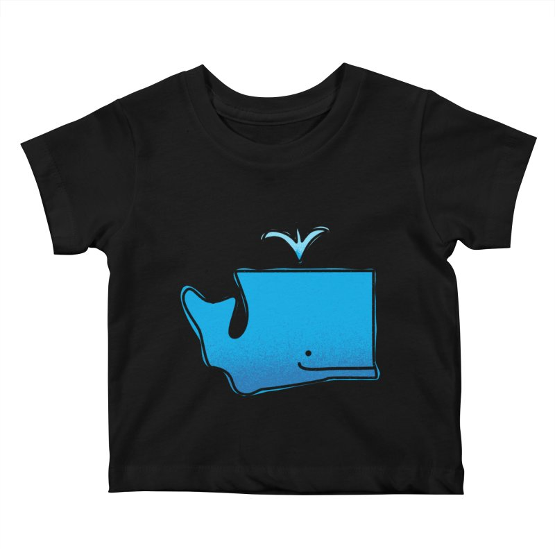 W is for Washington Kids Baby T-Shirt by Phillustrations's Artist Shop